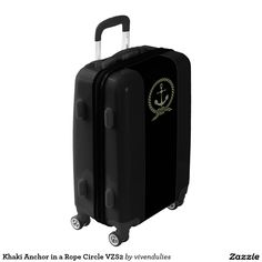 Khaki Anchor in a Rope Circle VZS2 Luggage