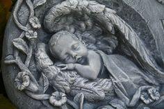 Baby Angel Memorial Statue Loss of a Child Sculpture - Concrete Outdoor Garden Art. $59.99, via Etsy.