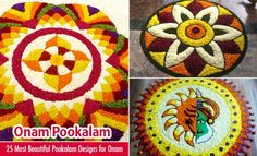 25 Most Beautiful Pookalam Designs for Onam Festival. Read full article: http://webneel.com/pookalam-designs-onam | more http://webneel.com/photography | Follow us www.pinterest.com/webneel