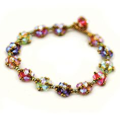 Italian Ice...wow! 4mm Bicones & 11° seed beads can easily create this ¼ inch bracelet. Pattern costs $4.95.