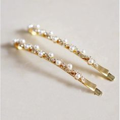 Smile Hair Pearl with Rhinestone Wavy Hair pin Girls Barrettes *** Visit the image link more details.