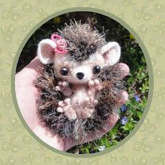 Saving for that day when I learn to crochet! Baby Hedgehog Crochet Pattern by ~peggytoes on deviantART