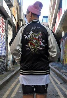Vintage+Japanese+Dragon+'Sukajan'+Souvenir+Jacket+