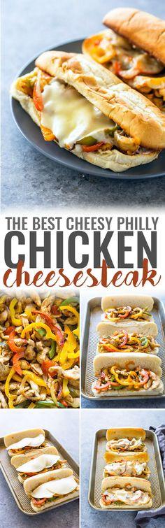 Cheesy Chicken Cheesesteak Sandwiches #CrystalFarmsCheese #CheeseLove #ad