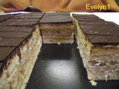 Kávovo orechový rez, recept, Zákusky | Tortyodmamy.sk Eastern European Recipes, Coffee Cake, Nutella, Sweet Tooth, Paleo, Cooking, Desserts, Food, Teeth