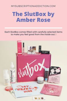 """SlutBox """"Let's Freedom Ring"""" this month with their July box full of beauty products and a wealth of voting information. Makeup Subscription Boxes, Monthly Subscription Boxes Canada, Free Books By Mail, Freebies By Mail, Make Money From Pinterest, Dollar Shave Club, Beauty Box Subscriptions, Let Freedom Ring, Amber Rose"""