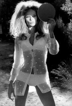 Veruschka  photo by Franco Rubartelli 1968 | polka dots | sheer | fashion | 1960s | reflection of ourselves | mirror | light |