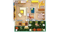 APARTAMENT ROSE GARDEN - 3 CAMERE Suprafaţă construită: 61.15 mp Suprafaţă utilă: 47.41 mp Aparatament disponibil doar pentru PARTER Se vinde cu GRADINA PRET: 48.000e + TVA 5% Apartments, Concept, Modern, Trendy Tree, Penthouses, Flats