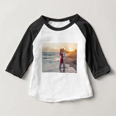 Love On the Beach Baby T-Shirt - Saint Valentine's Day gift idea couple love girlfriend boyfriend design