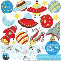 Space clipart commercial use, vector graphics, digital clip art - CL319 $