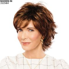 Calla Wig by Jaclyn Smith Short Haircuts With Bangs, Short Layered Haircuts, Cute Haircuts, Short Hairstyles For Women, Pretty Hairstyles, Short Hair With Layers, Short Hair Cuts, Short Hair Styles, Natural Hair Styles
