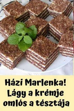 Hungarian Desserts, Cake Bars, Homemade Cakes, Cakes And More, Food And Drink, Cooking Recipes, Sweets, Snacks, Cookies