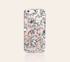 Floral iPhone 6s Case Clear iPhone 6s Plus Case by casesbycsera