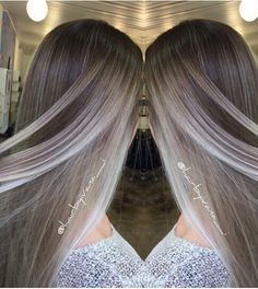 beautiful long dark brown hair with lots of cool tone ash blonde ...