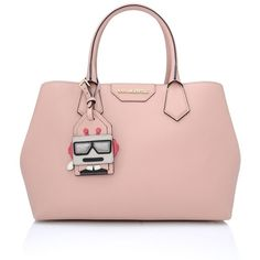 Karl Lagerfeld K/Shopper Saffiano (14.130 RUB) ❤ liked on Polyvore featuring bags, handbags, tote bags, misty rose, travel tote bags, pink leather purse, leather handbags, pink tote bag and pink leather handbags