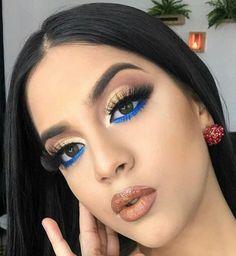 Eyeshadow Looks, Makeup Goals, Makeup Palette, Smokey Eye, Septum Ring, Eye Makeup, Hair Beauty, Make Up, Hairstyle