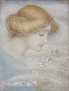 Pre Raphaelite Art: Winifred Sandys - Love in a Mist