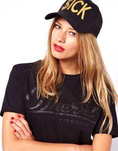 Gorra inglesa estampada negra de Sick Girl 6d25bade8d9
