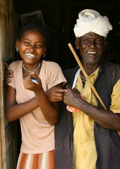 Father And Daughter In Massawa, Eritrea