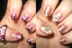 Lovely Floral Nail Painting Ideas