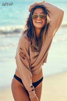 NEW swim. NEW fleece. NEW sunshine. Beach happy!