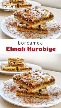 East Dessert Recipes, Desert Recipes, Turkish Recipes, Italian Recipes, Delicious Desserts, Yummy Food, Biscuits, Tea Time Snacks, Banana Pudding
