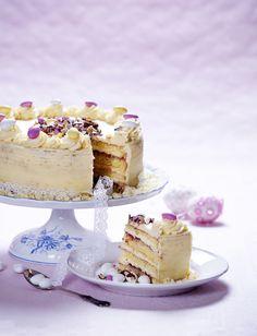 Torta s krémom z bielej čokolády