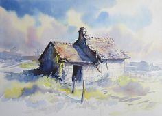 GALERIES | Stages de peinture, dessin, carnets de voyage - Esquisses croquis de paysage - Atelier - Emmanuel Blot - France - Val de Loire - ...