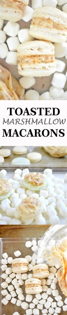 Toasted Marshmallow Macarons- delicate macaron shells are filled with a toasted marshmallow vanilla buttercream frosting!