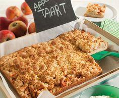 Appelplaattaart | Deen Supermarkten Dutch Recipes, Sweet Recipes, Baking Recipes, Cookie Desserts, No Bake Desserts, Delicious Desserts, Sweet Pie, Sweet Bread, Gluten Free Chocolate