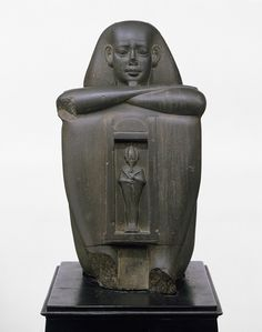 Block Statue of a Governor, Egyptian, Late Period, Dynasty 26, c. 664 - 525 BC