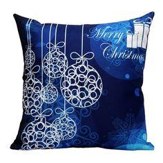 Sofa Merry Christmas Printed Pillow Case
