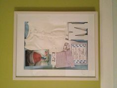 Newborn baby hospital shadow box - need to do this with Rays stuff too.