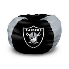 Kids Oakland Raiders Bean Bag Chair Beanbag