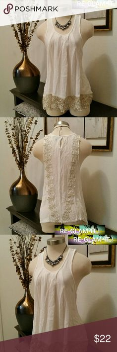 ROMEO &JULIET COUTURE...NEW LISTING...TUNIC ...ADDING INFO SOON...EXCELLENT CONDITION  ...NORMAL WEAR...NO FLAWS ...A MUST HAVEEEE... ...BEAUTIFUL CROCHET BOTTOM..STYLE .. ...TUNIC...STYLE.. ...LOOSE FEEL ...SHEER SEE TRU ....STYLE.. ...SIZE SMALL....COULD FIT.. PETITE MEDIUM Romeo & Juliet Couture Tops Blouses