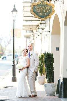 A Timeless Wedding at the Maison Dupuy Hotel in New Orleans, Louisiana