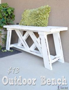 Best Country Decor Ideas for Your Porch - DIY Double X Outdoor Bench - Rustic Farmhouse Decor Tutorials and Easy Vintage Shabby Chic Home Decor for Kitchen Living Room and Bathroom - Creative Country Crafts Furniture Patio Decor and Rustic Wall Art and Accessories to Make and Sell   #GreatDiyCountryDecor #shabbychicfurniturelivingroom #countryshabbychicdecor