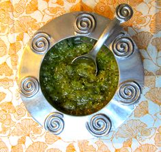 Salsa Verde with Tomatillos! Mexican Dishes, Mexican Food Recipes, Ethnic Recipes, Paleo Recipes, Bbq Flank Steak, Fruit Detox, Salsa Verde Recipe, Bountiful Baskets, Cooking Sauces