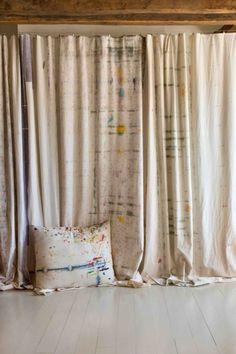 deco rideau motif discret