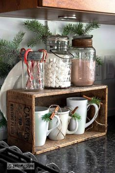 Christmas prop -- hot cocoa stand