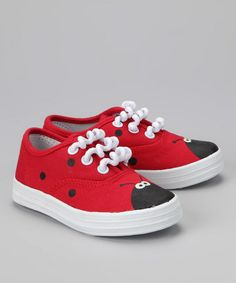 Take a look at this Red Little Lady Sneaker by Monkey-Toes on #zulily today!