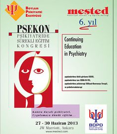 Psikiyatride Sürekli Eğitim Kongresi - PSEKON 2013: http://www.tumkongreler.com/kongre/psikiyatride-surekli-egitim-kongresi-psekon-2013 #psychiatry #psychology