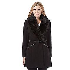 Star by Julien Macdonald - Black faux fur coat
