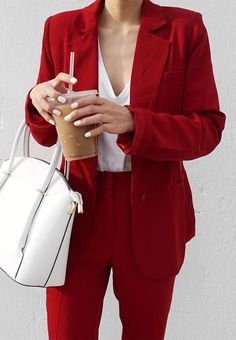 red+and+white_suit+++top+++bag #omgoutfitideas #stylish #look
