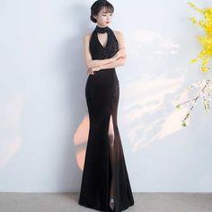 「ロングドレス イブニングドレス ビジュー パーティー 発表会 SMLXLXXL タイト スリット ブラック 黒」の商品情報やレビューなど。
