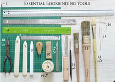 TOP 20 Bookbinding tools by Dani Fox hand bound books. Every bookbinder should have these!!