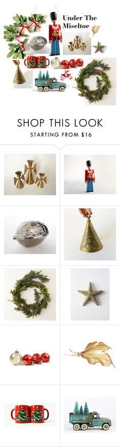 """Under the Mistletoe"" by popbamvintage ❤ liked on Polyvore featuring interior, interiors, interior design, home, home decor, interior decorating, Kay Bojesen, Waechtersbach and vintage"