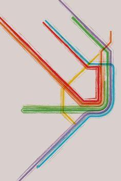 Copenhagen Metro Map Poster