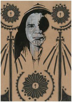 illustration pattern a lady
