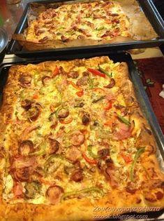 Πίτσα έχουμε φάει σίγουρα με ότι υλικά προτιμά ο καθένας...αλλά η νοστιμιά αυτής της ζύμης δεν λέγετε... Υλικά για τη ζύμη: ... Cookbook Recipes, Pizza Recipes, Dessert Recipes, Cooking Recipes, Easy Recipes, Desserts, Cookie Dough Pie, The Kitchen Food Network, Macedonian Food